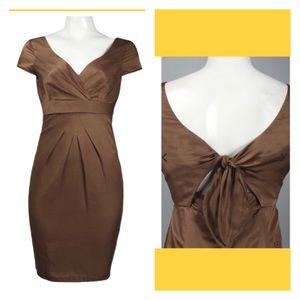 Donna Ricco Cap Sleeve Knot Back Dress 10 NWT